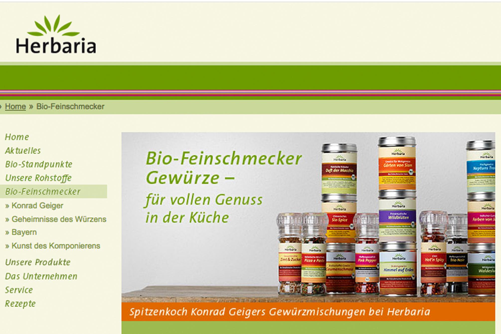 Bio-Feinschmecker Gewürze von Herbaria