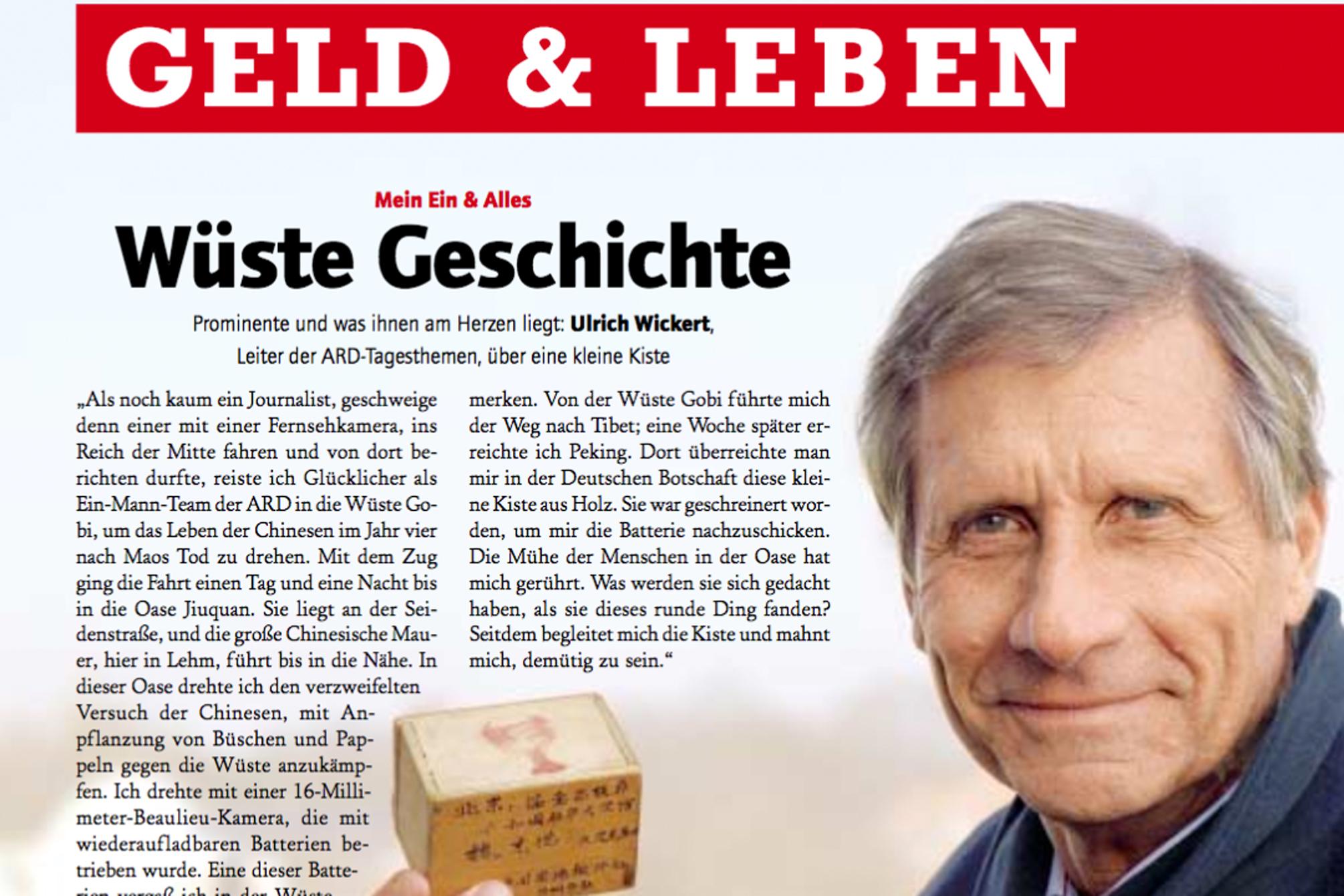 Ulrich Wickert, Leiter der ARD-Tagesthemen