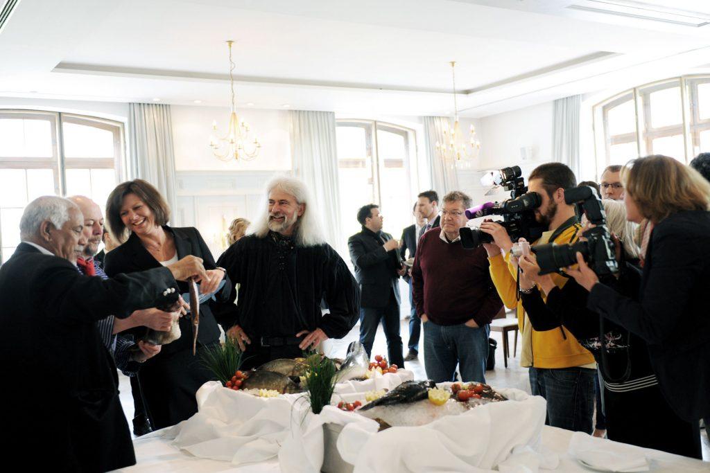 Fotoshooting im Anschluss an die Pressekonferenz mit Ilse Aigner zum Thema EU-Fischereipolitik