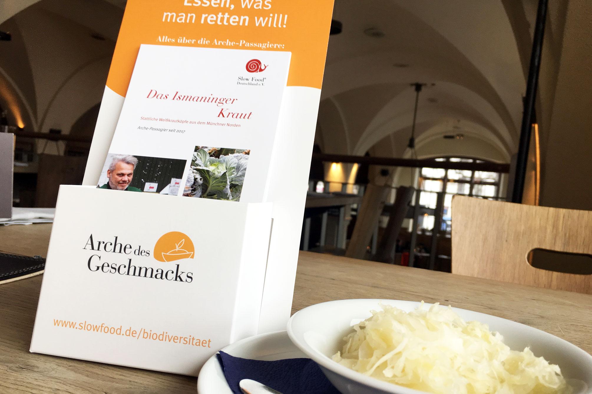 Arche-Passagier Ismaninger Kraut: Pressekonferenz im Gasthaus Pschorr am Viktualienmarkt