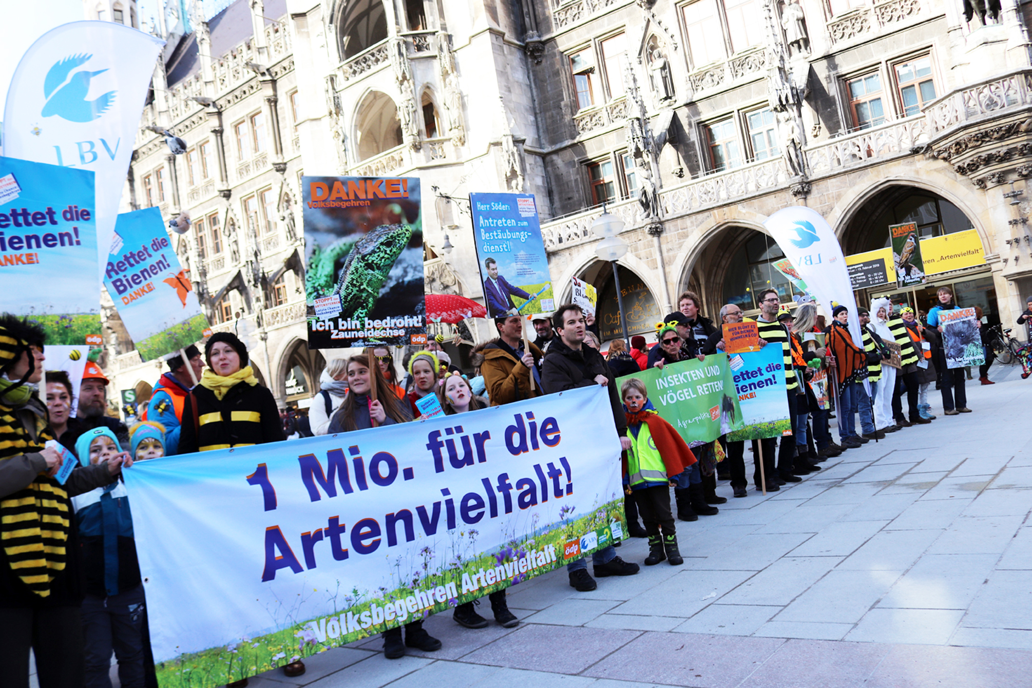Volksbegehren Artenvielfalt – Rettet die Bienen! in Bayern 2019