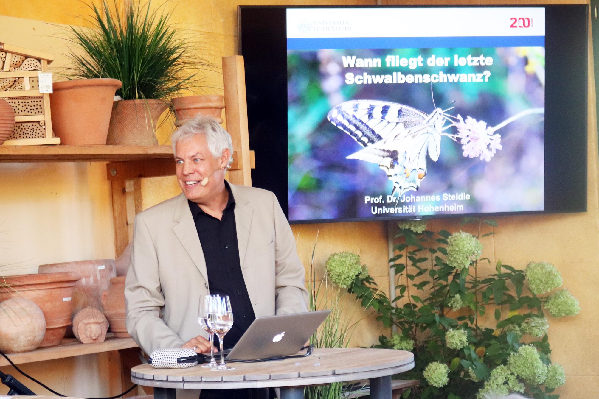 Vortrag von Professor Dr. Johannes Steidle über das Insektensterben in der Veranstaltungsreihe Siegwarths Umweltgespräche in Singen-Bohlingen
